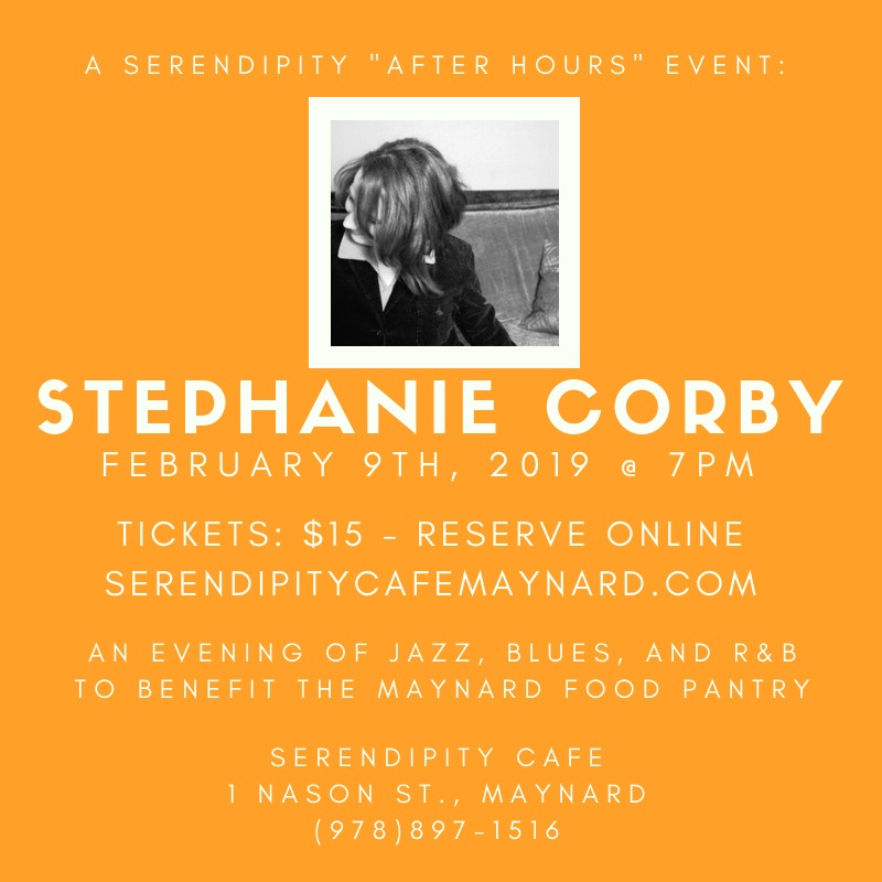 Concert this Saturday Feb 9th to benefit Maynard Food Pantry - Limited  of Tickets Available