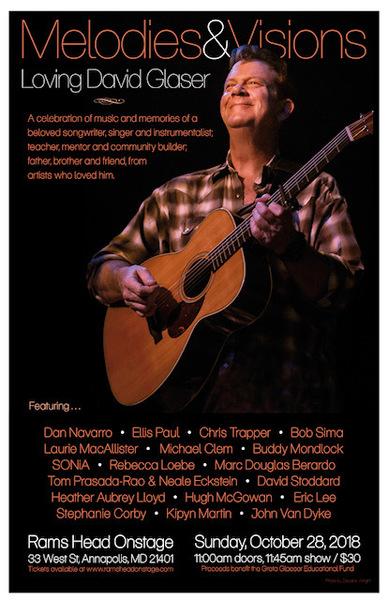 David Glaser Memorial Concert on Oct 28th at RAMSHEAD